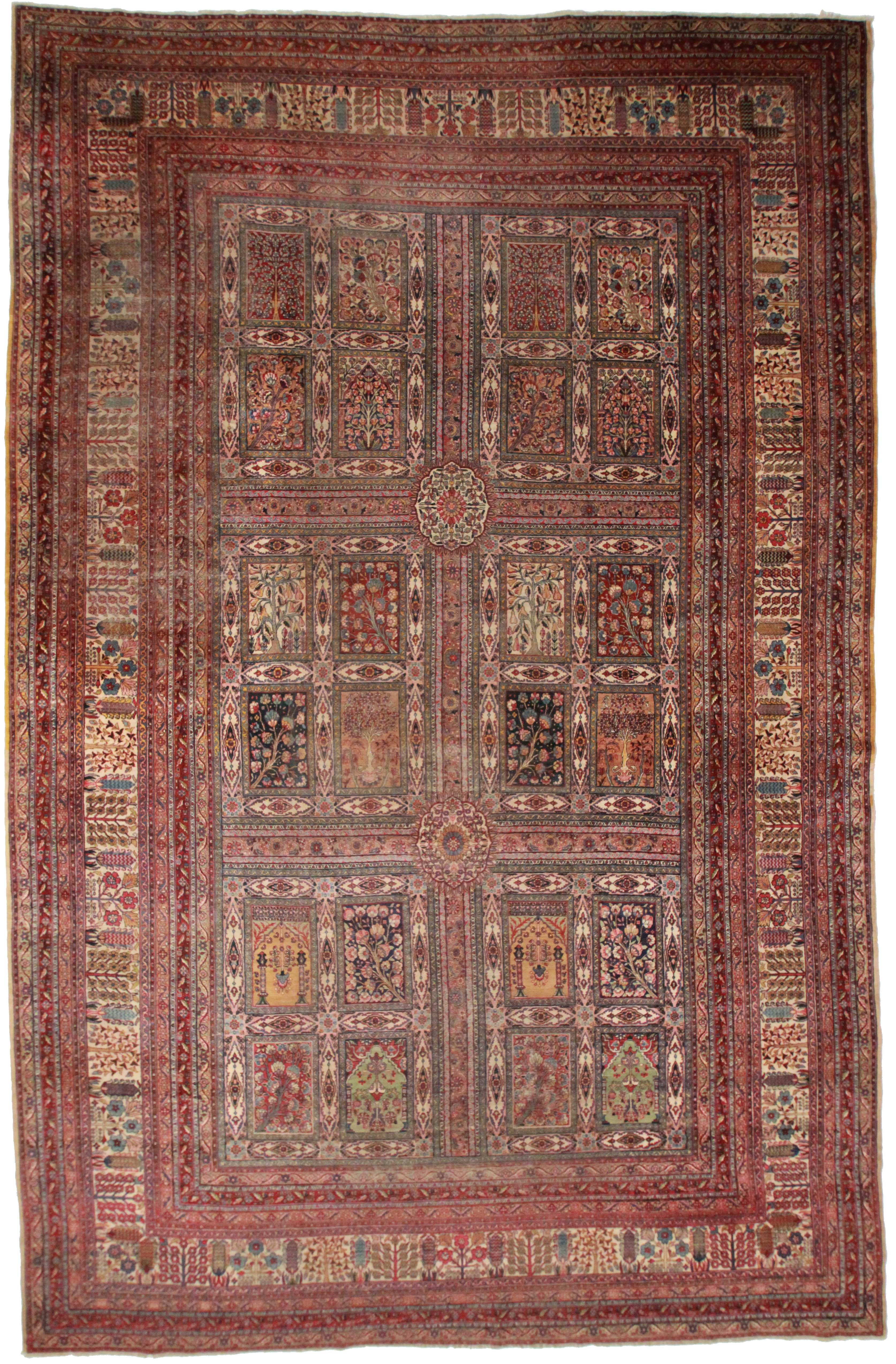 Antique Persian Kerman 11 X 17 Rug 14250