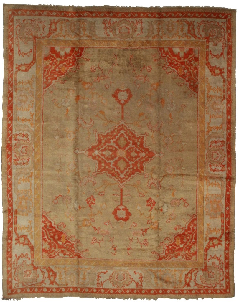 Antique Turkish Oushak 10x12 Rug 13680 Oriental Rugs