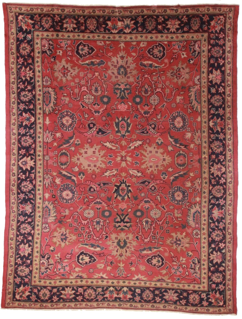 Antique turkish oushak 10x14 wool oriental rug 5734 for What size rug for 12x12 room