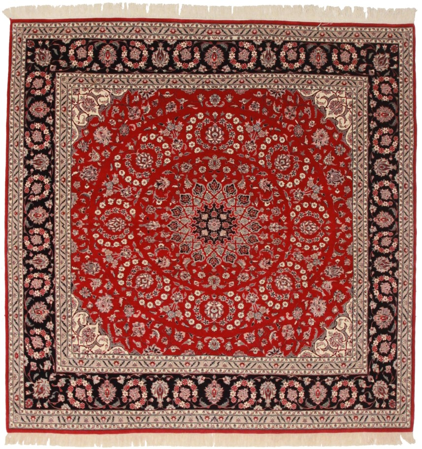 Square pakistani 8x8 wool oriental rug 5720 for What size rug for a 12x12 room