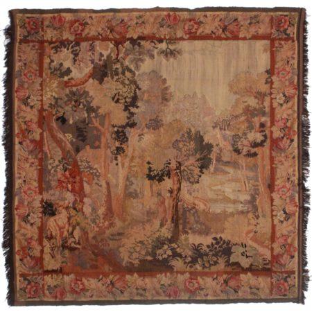 Square 7 x 7 Vintage European Tapestry 14213