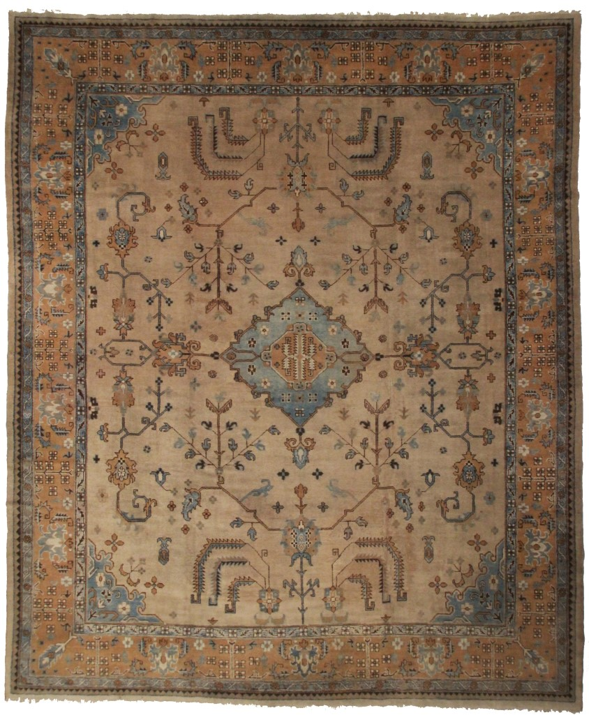 background blue photo antique att turkish of x rug nazmiyal oushak rugs charming