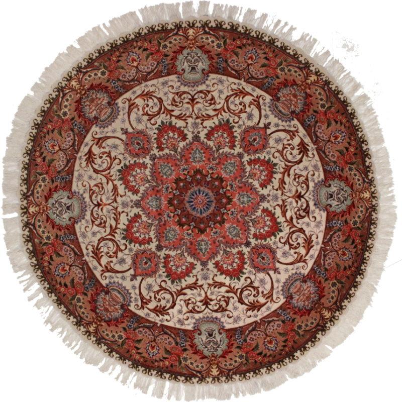Persian Tabriz Round Rug 11274