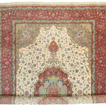Persian Tabriz silk and wool 13x20 Rug 10625