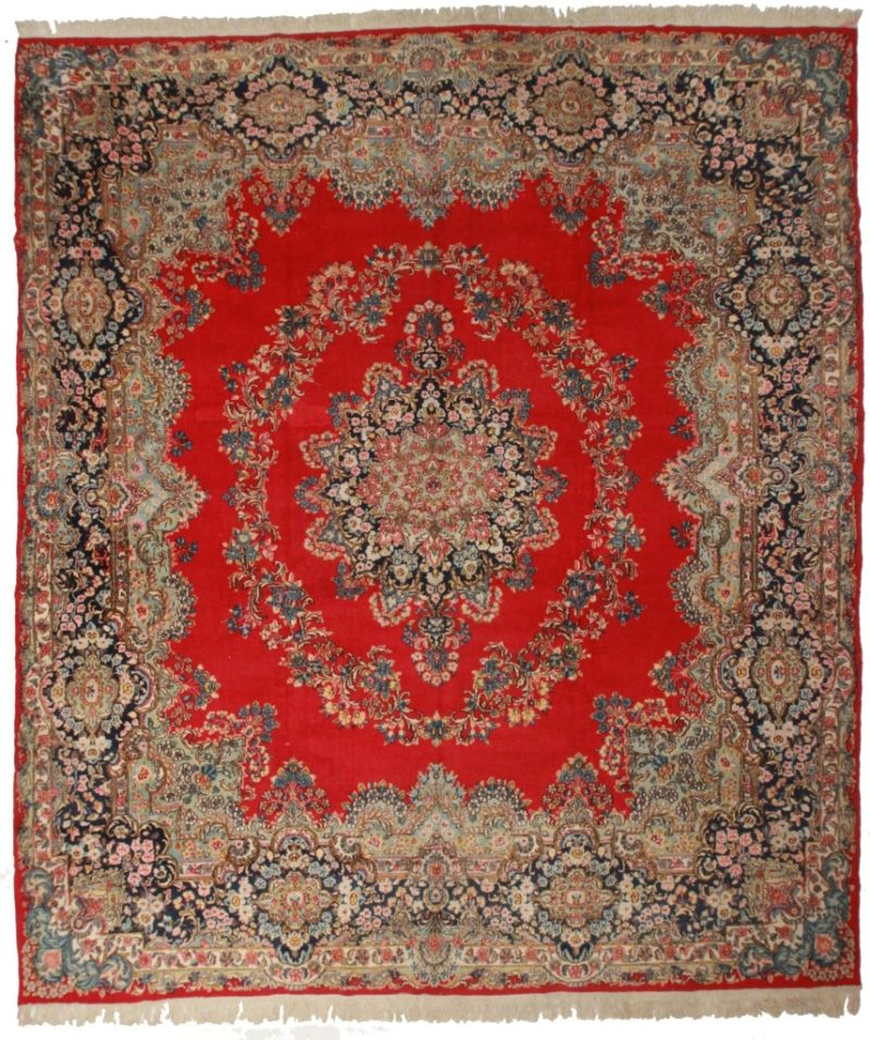 Antique Persian Kerman 12x14 Rug 31