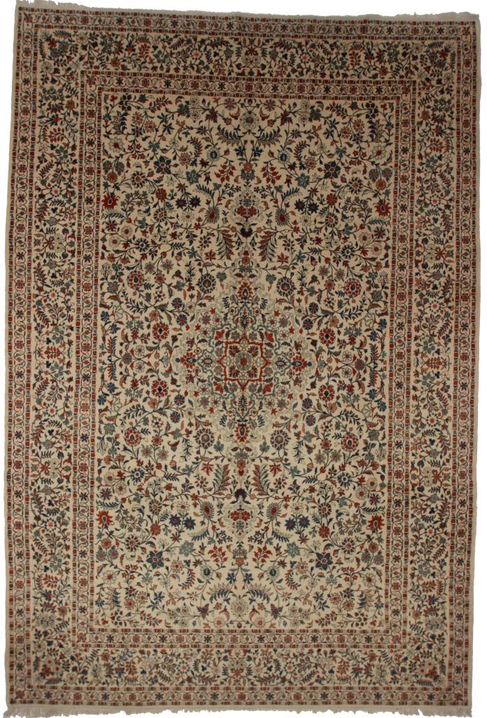 Persian Kashan 9x13 Rug 80