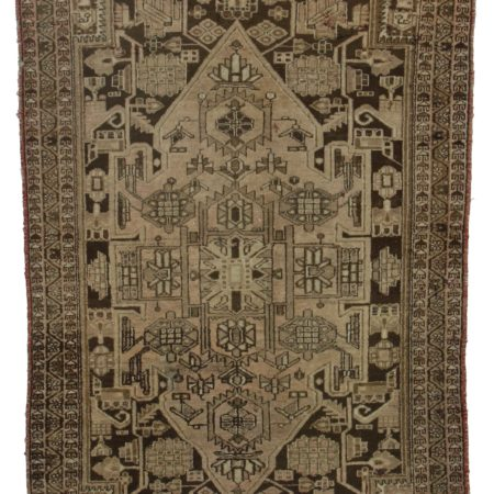 4 x 6 Brown Antique Persian Hamedan Rug 394