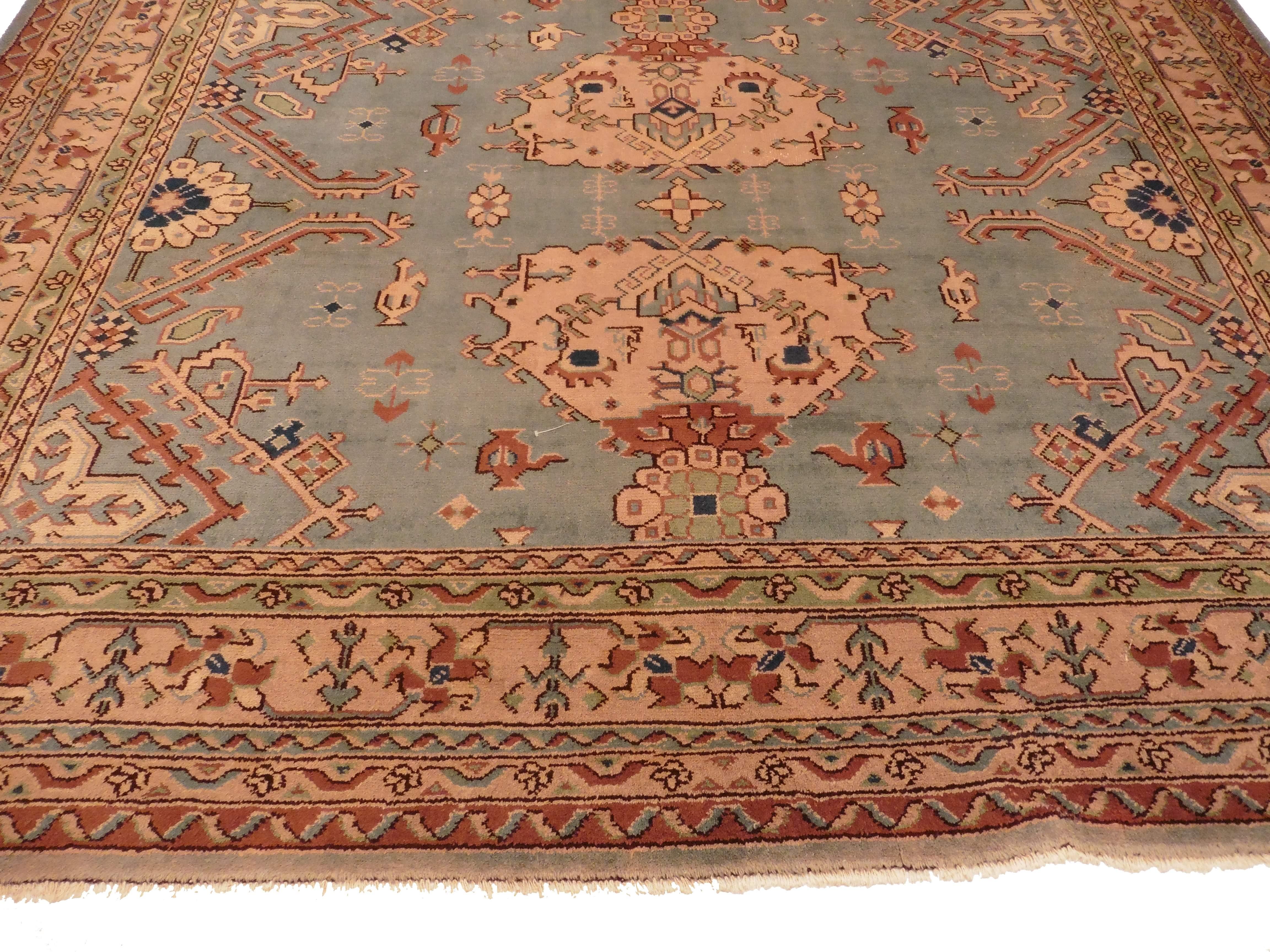 Antique Turkish Oushak 10 X 13, Rug 9412 ...