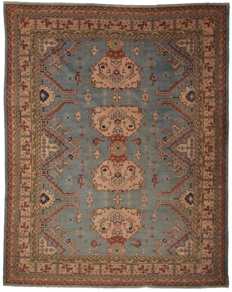 Antique Turkish Oushak 10x13 Rug 9412