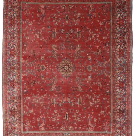 Antique Persian Yazd 10x13 Rug 1157