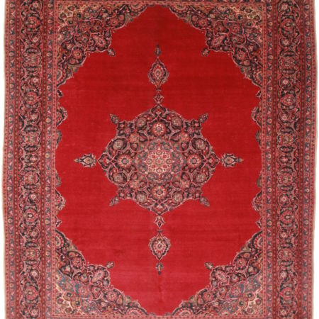 Antique Persian Kashan 11x14 Rug 1194
