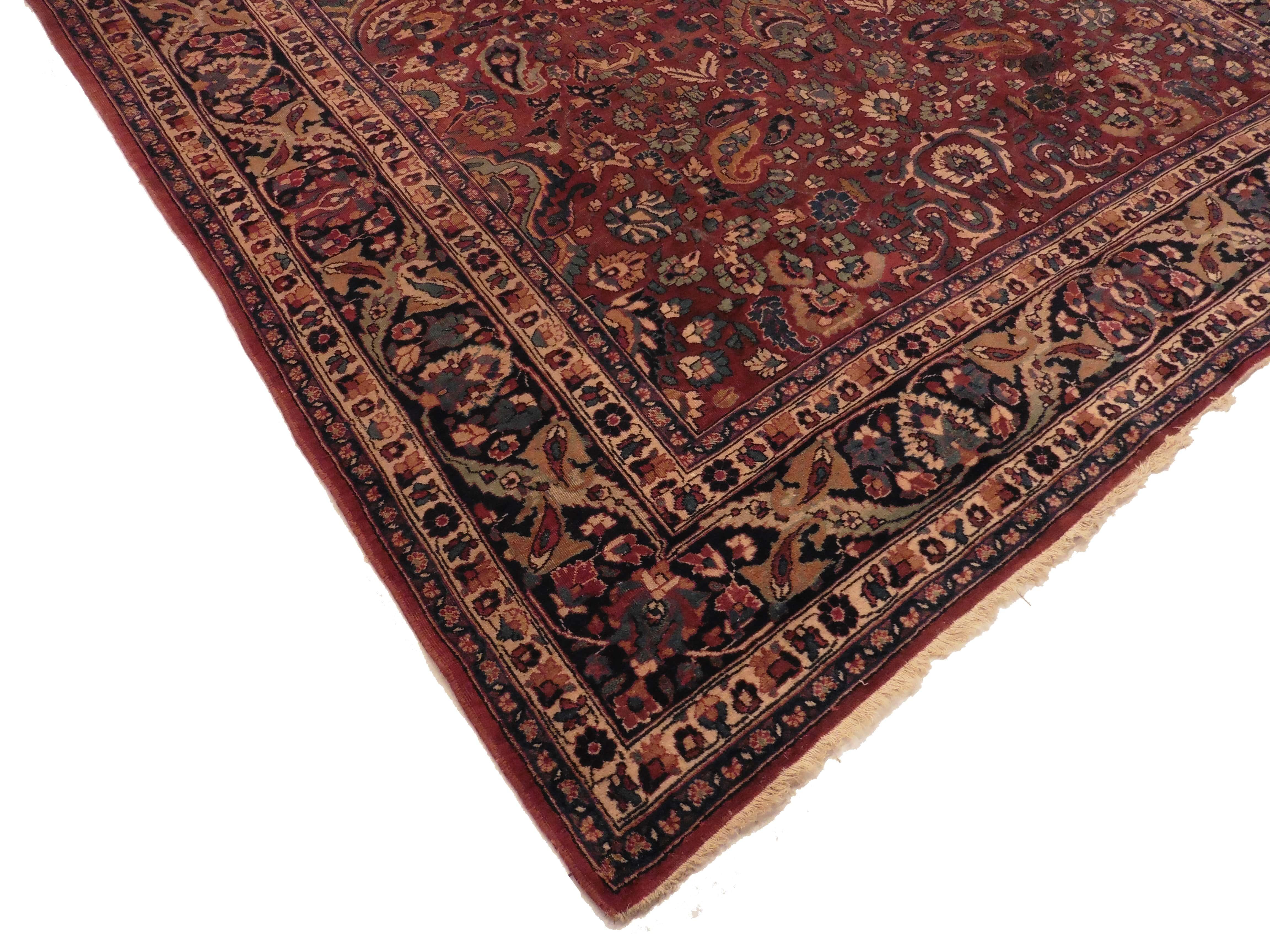 Persian Mashad 8x16 Oriental Rug 1399
