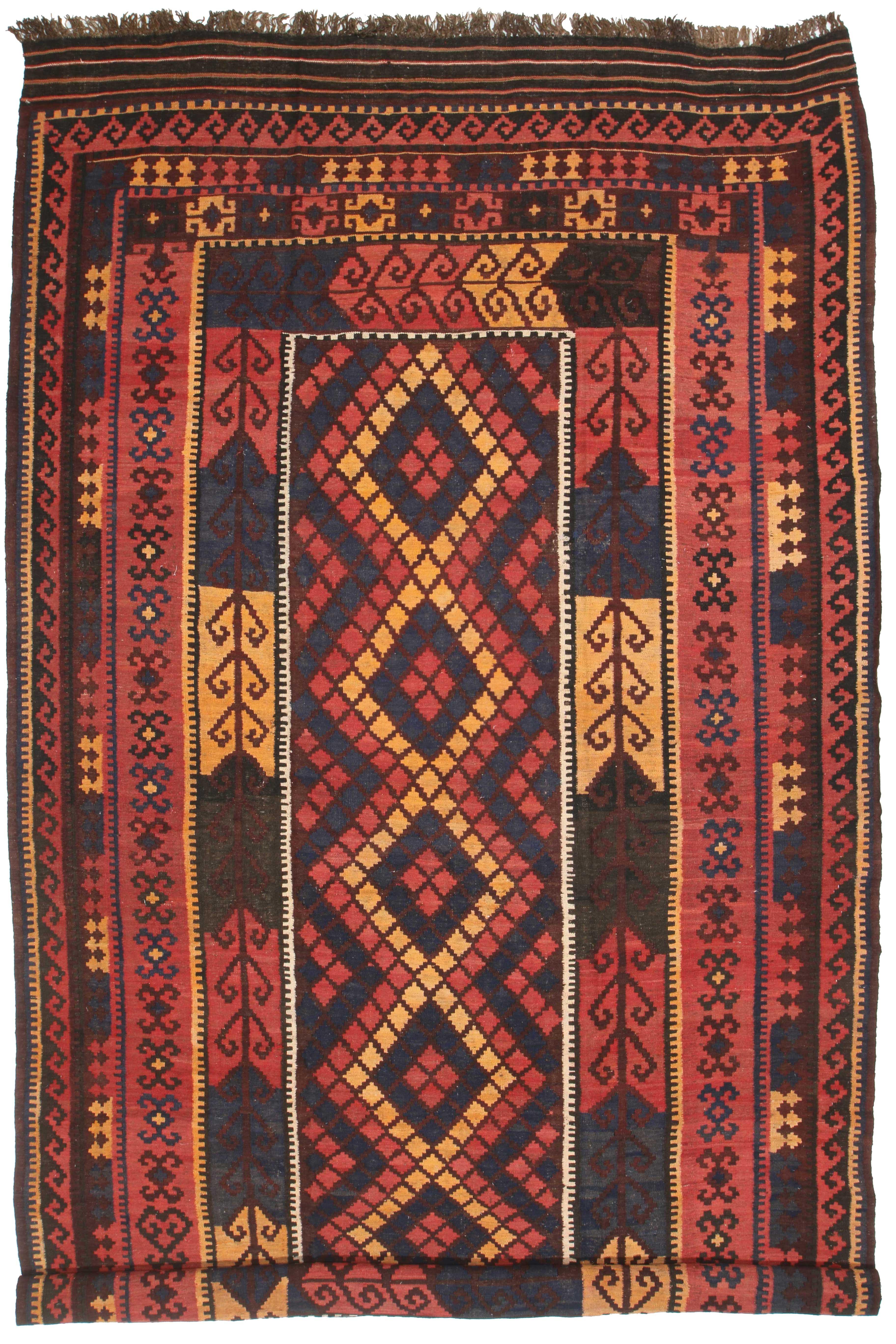 Afghan Wool Kilim 8 X 15 Flat Woven Rug 6411 Exclusive