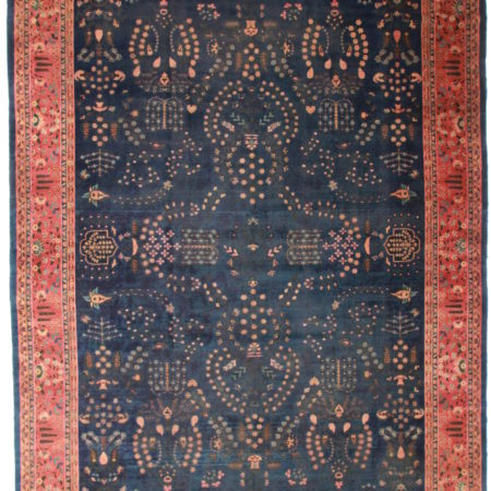 Antique Indian Agra 11x17 Wool Oriental Rug 7383