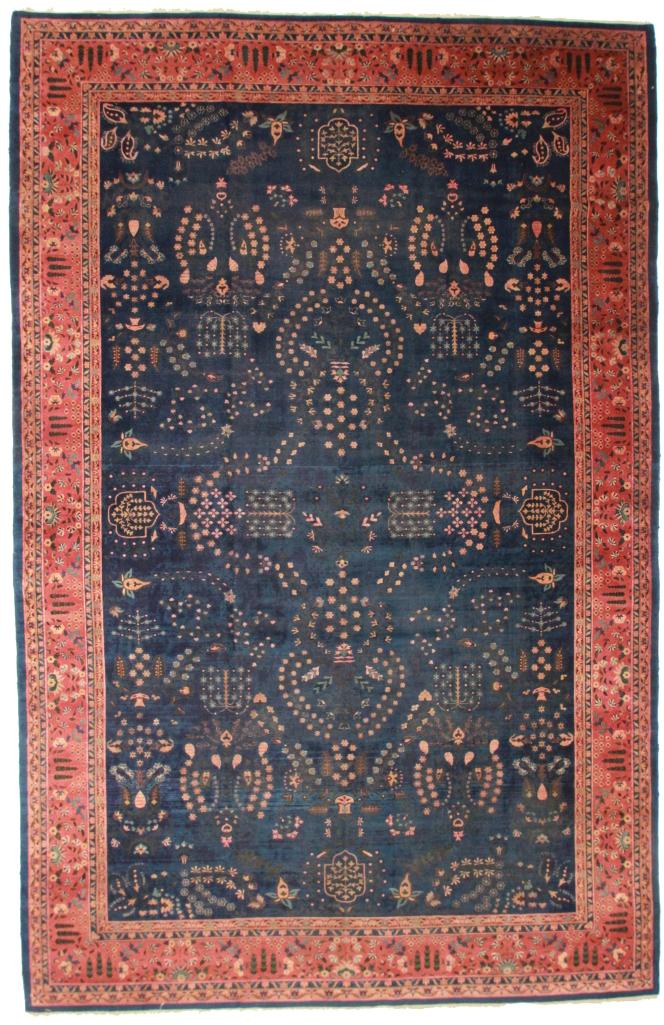 Antique Indian Agra 11x17 Wool Oriental