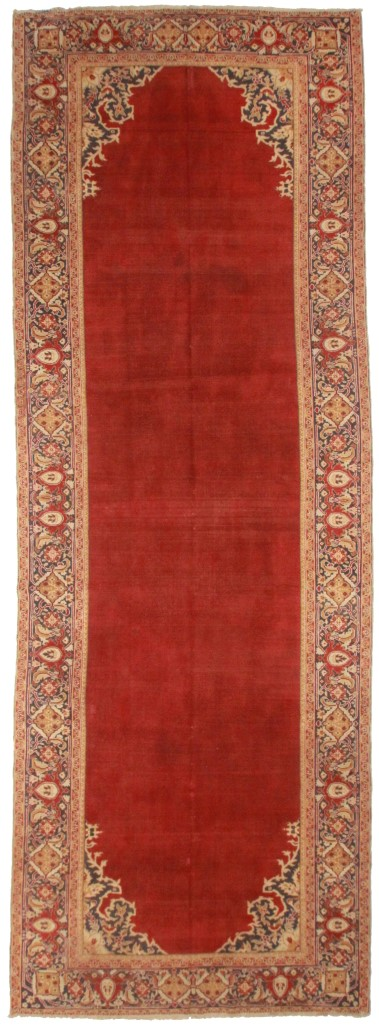 Antique Indian Agra 7x19 Wool Oriental Rug 5733