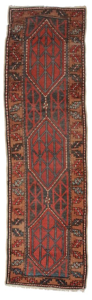 Antique Persian Heriz 3x9 Wool Runner 2164