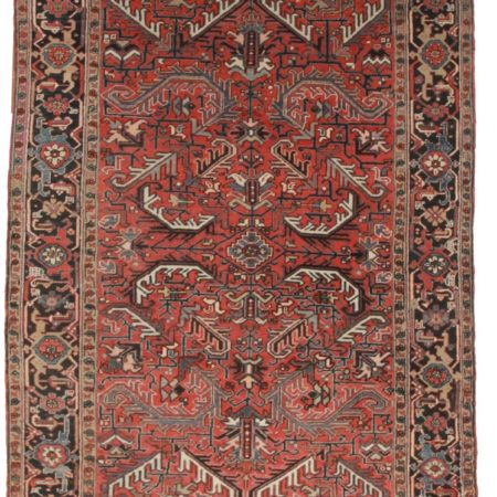 Antique Persian Heriz 7x10 Wool Oriental Rug 8042