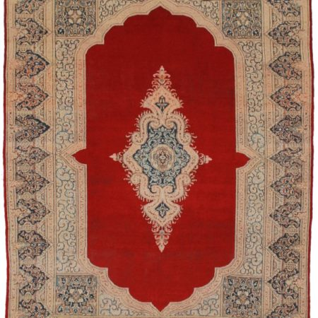 Antique Persian Kerman 9x12 Wool Oriental Rug 2478