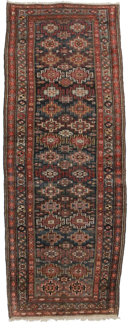 Antique Persian Kordish Runner 5x13 Wool Rug 8019