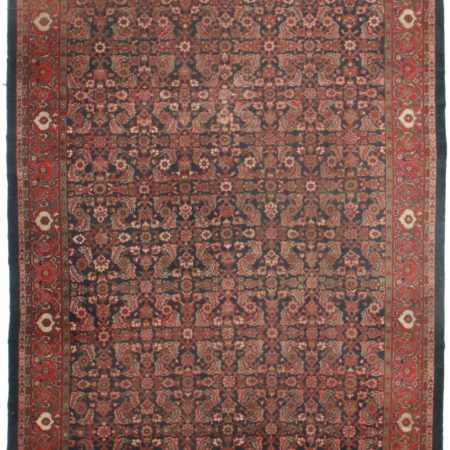 Antique Persian Mahal 10 x 13 Wool Rug 4063