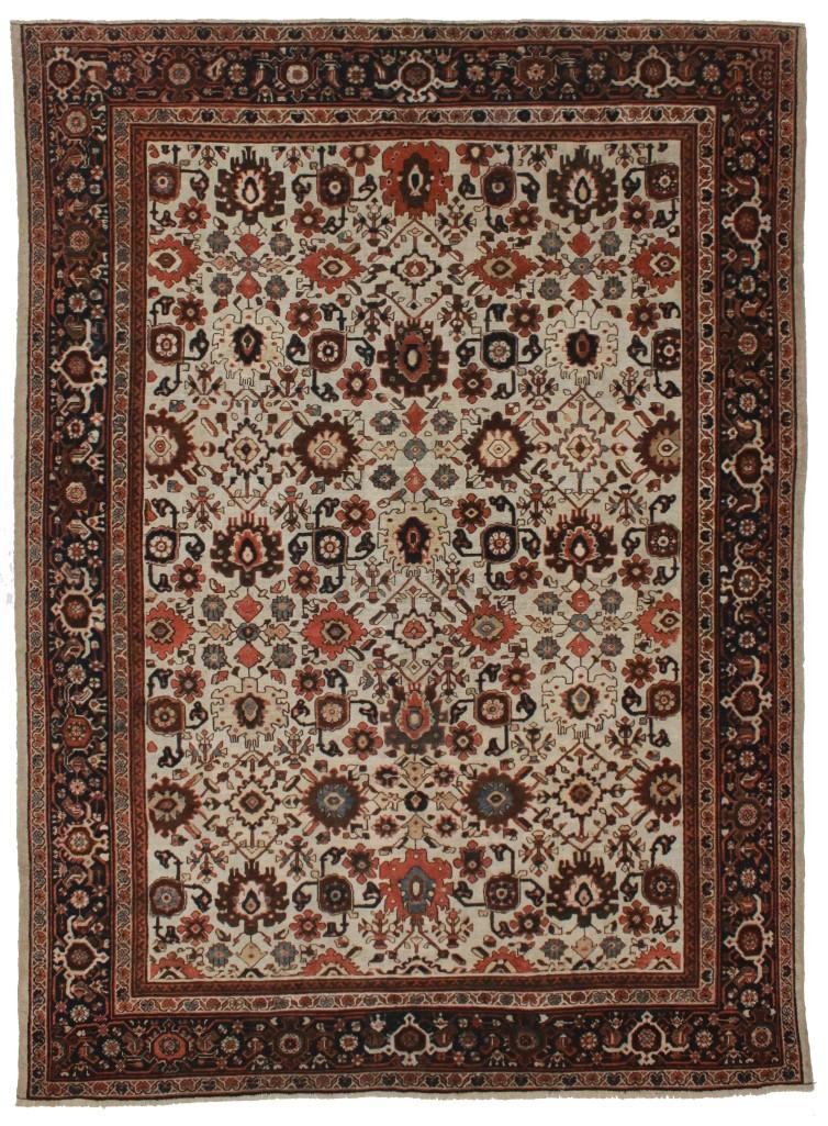 Antique Persian Mahal 8x11 Wool Oriental Rug 1994