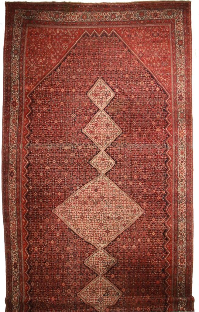 Antique Persian Malayer 14x30 Wool Oriental Rug 5725