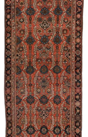 Antique Persian Malayer 3x16 Wool Oriental Rug 5639