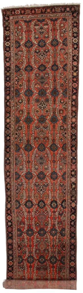 Antique Persian Malayer 3x16 Wool Oriental Rug 5639