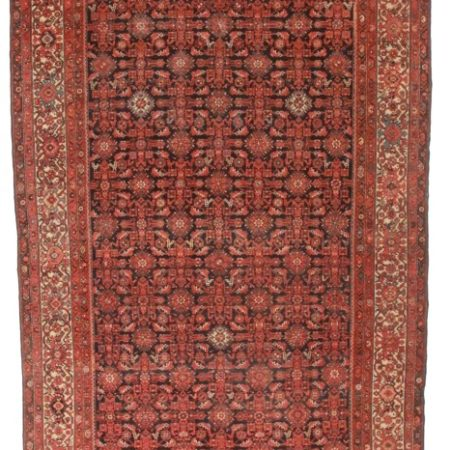 Antique Persian Malayer 7x16 Wool Rug 4297