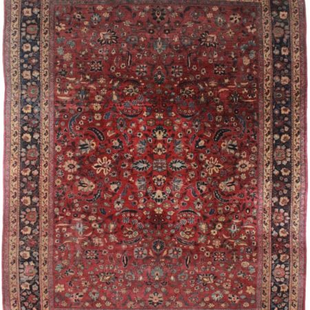 Antique Persian Mashad 8x11 Wool Oriental Rug 8812