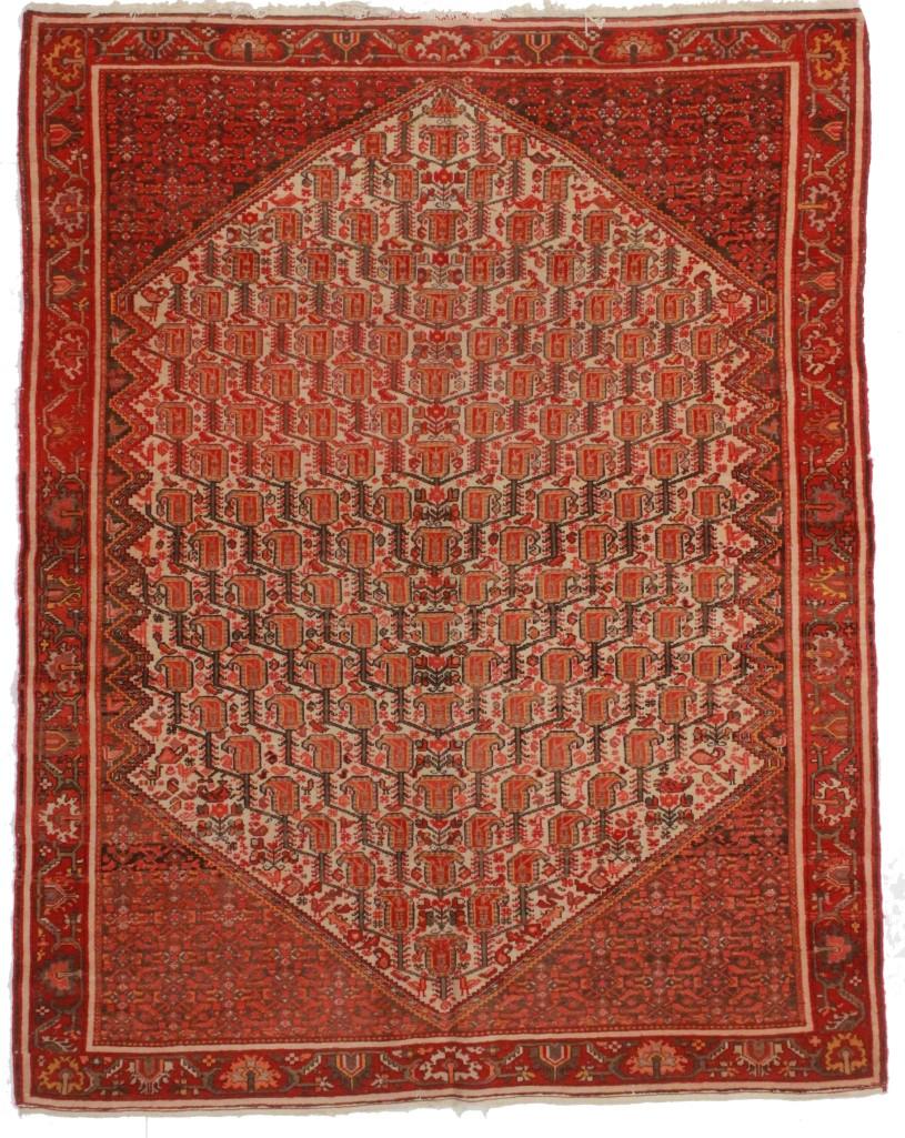 antique persian senneh 5x6 wool oriental rug 8585