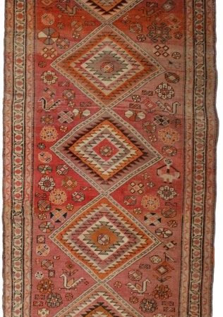 Antique Persian Serab 4x12 Wool Runner 4283