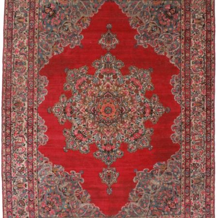 Antique Persian Yazd 9x12 Wool Oriental Rug 6474