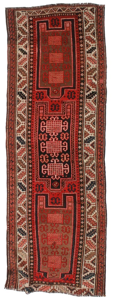Antique Russian Caucasian 4x10 Runner 4217