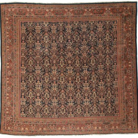 Antique Square Persian Mahal 11x12 Wool Oriental Rug 7569