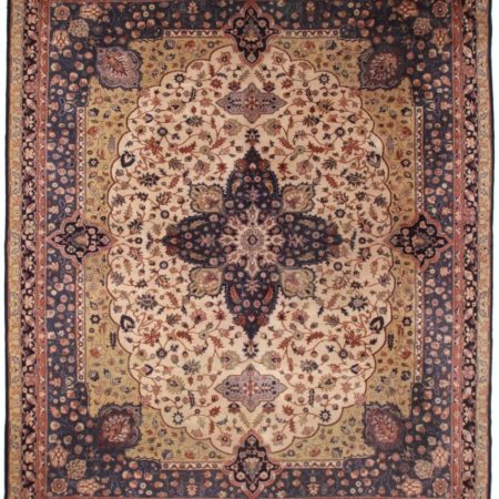 Antique Turkish 12x14 Wool Oriental Rug 1955