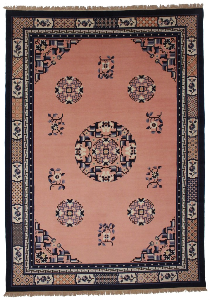 Chinese Art Deco 9x12 Wool Oriental Rug 8246