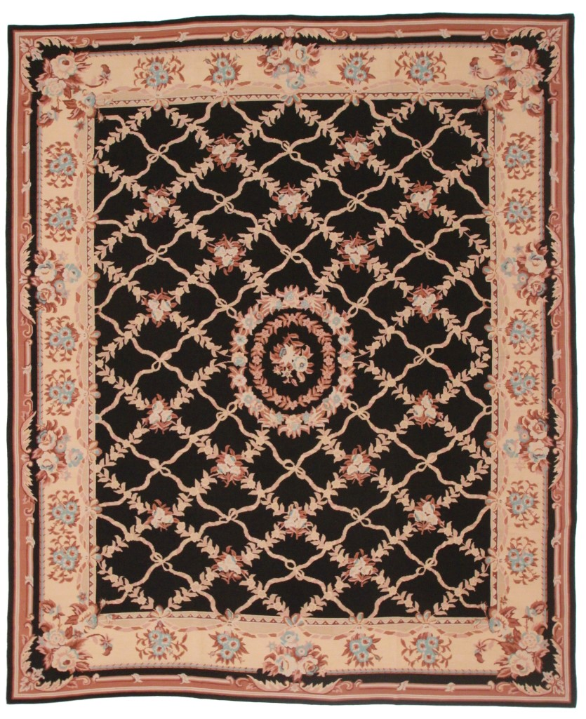 Chinese Needlepoint 8x10 Flat Woven Rug 4961