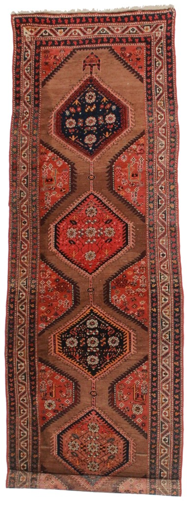 Persian Hamedan 4x12 Wool Runner 2354