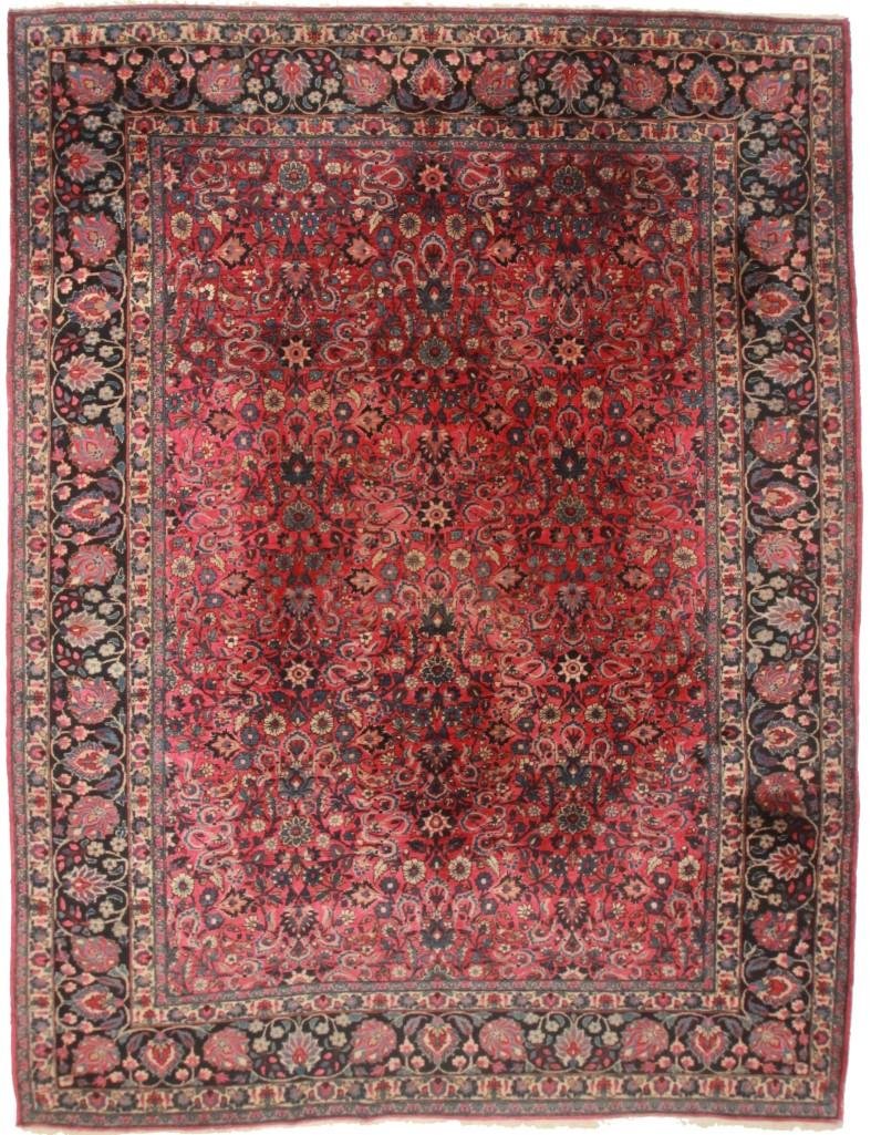 Persian mashad 10x13 wool oriental rug 1811