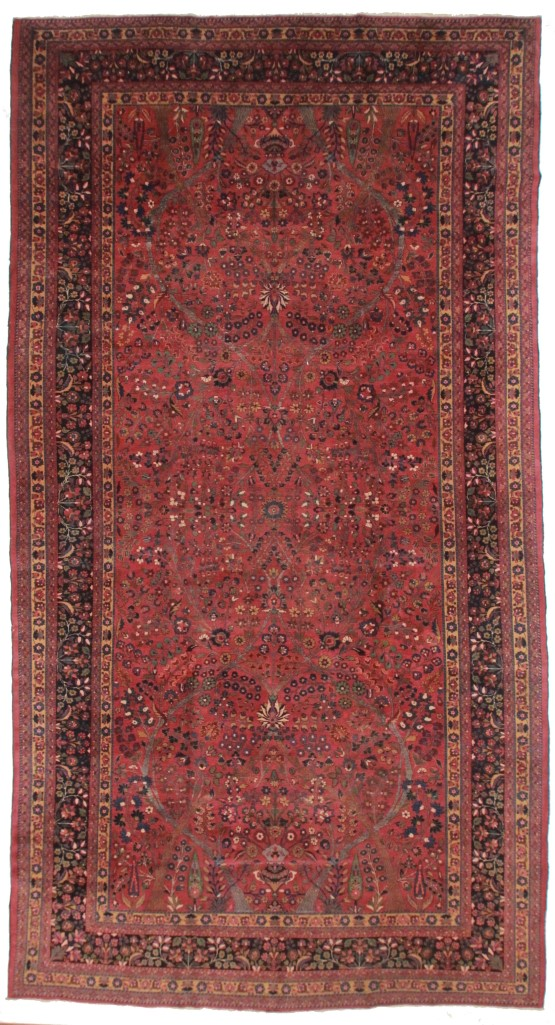 Persian Mashad 10x18 Oriental Rug 4391