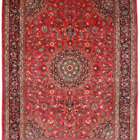 Persian Mashad 8x11 Wool Oriental Rug 7268