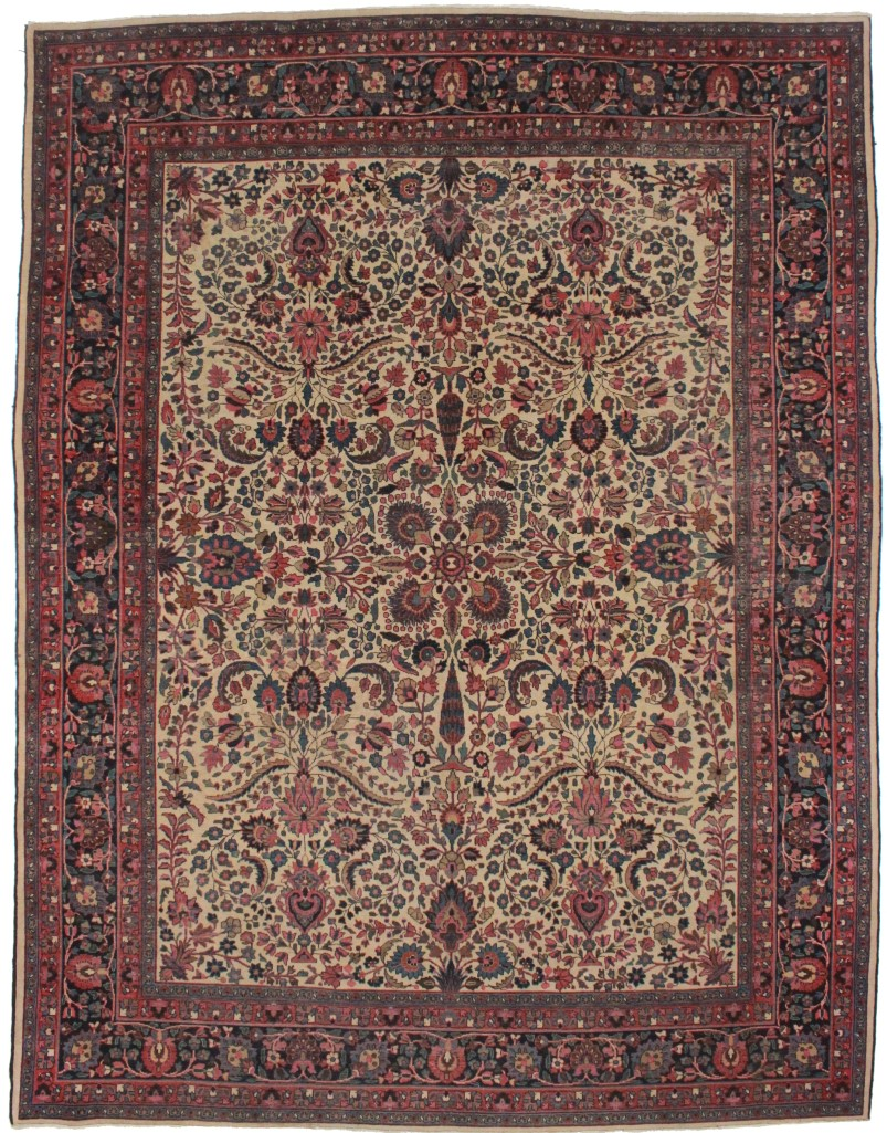 Persian Mashad 9x11 Wool Oriental Rug 7104