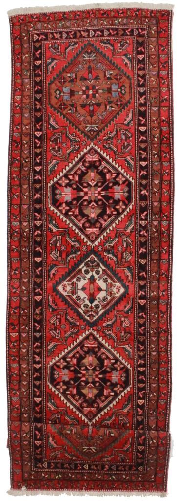 Persian Meshkin Runner 4x13 Wool Oriental Rug 6573