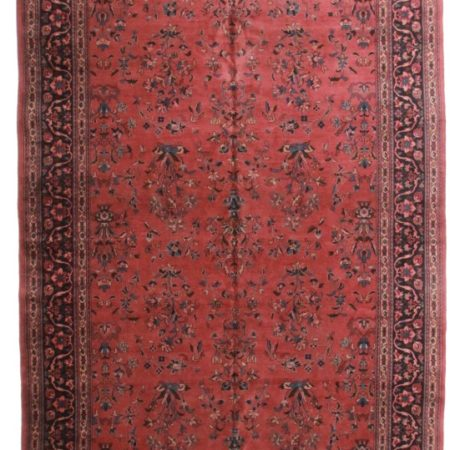 Turkish Sarouk 10 x 23 Wool Oriental Rug 3730
