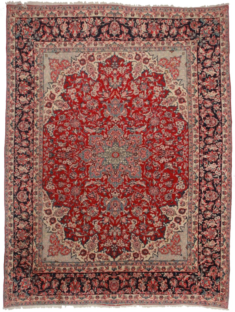 Persian Yazd 10x13 Rug 816