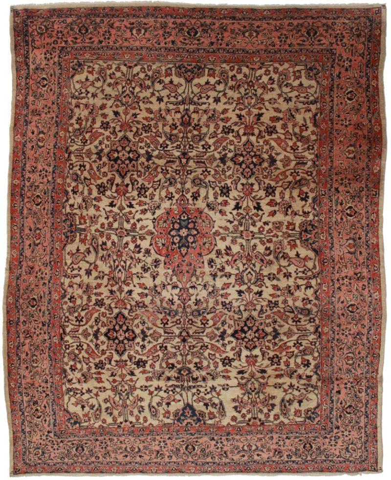 Antique Persian Sarouk 9x11 Oriental Rug 4118