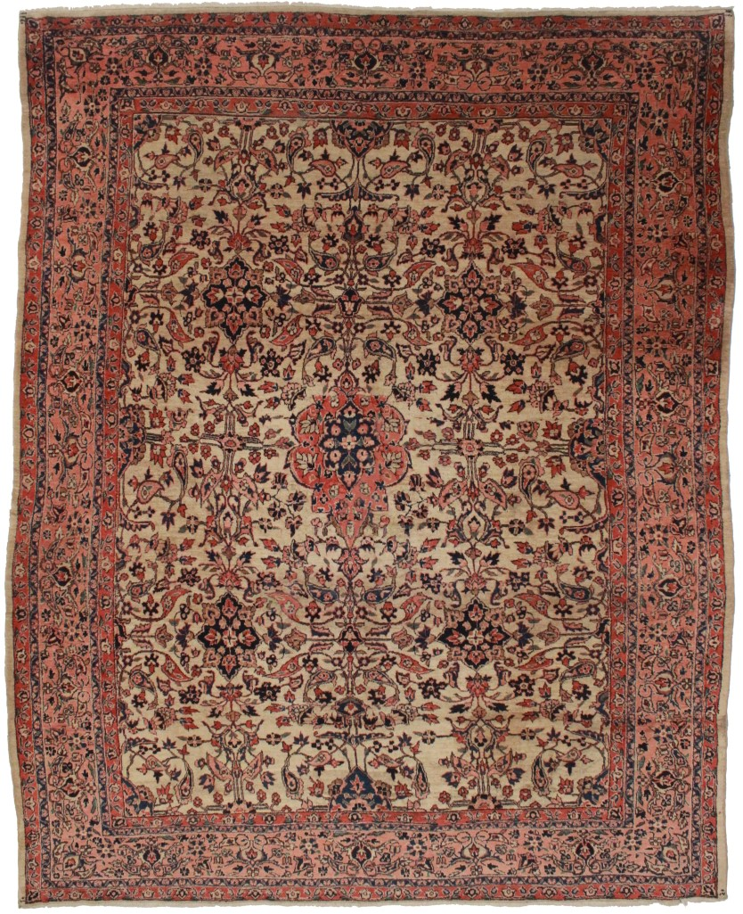 Oriental Rugs Jupiter Florida: Antique Persian Sarouk 9x11 Oriental Rug 4118