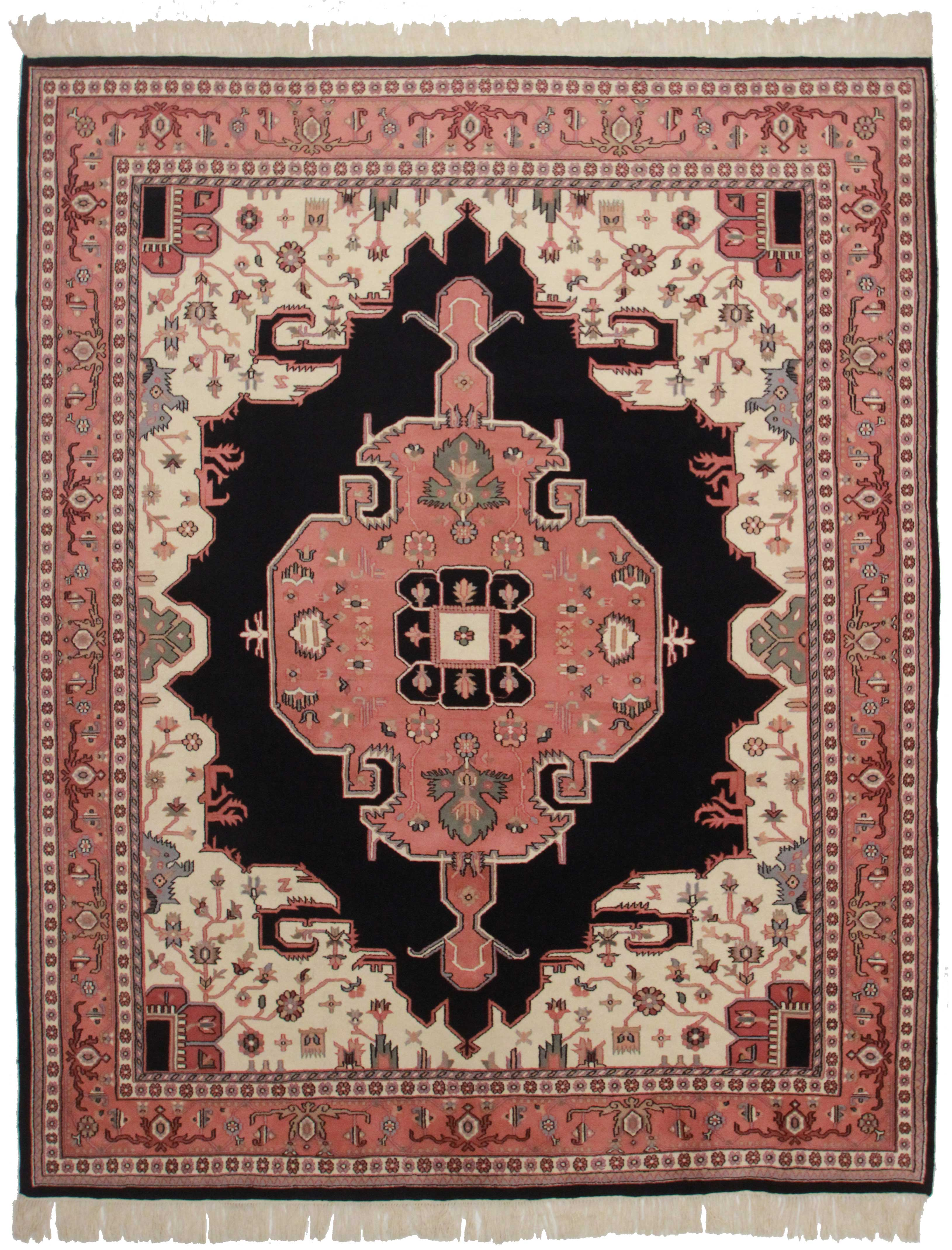 Vintage Indian 8 X 10 Wool Rug 2441 Exclusive Oriental Rugs